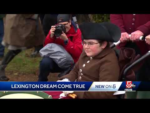 Wish granted on Patriots' Day