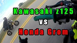 4. Honda Grom VS Kawasaki Z125   Drag Race!