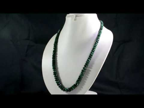 Natural Emerald 350ct Big Size Faceted Beads Gemstone Stings Necklace on ebay