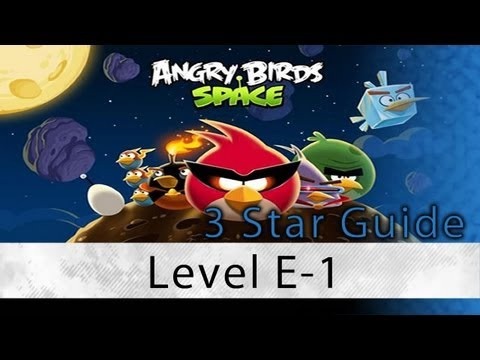 Angry Birds Space - Secret Space Invaders Level E-1 3 Star Walkthrough Eggsteroid 1 | WikiGameGuides (видео)