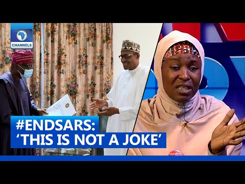 #EndSARS: 'This Is Not A Joke', Aisha Yesufu Condemns Buhari's Reaction During Sanwo-Olu's Visit