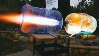Video GIANT DIY Propane Plasma Cannon! MP3, 3GP, MP4, WEBM, AVI, FLV April 2019