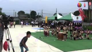 羽黒の夏祭り3・和太鼓・バトン・羽黒児童センター