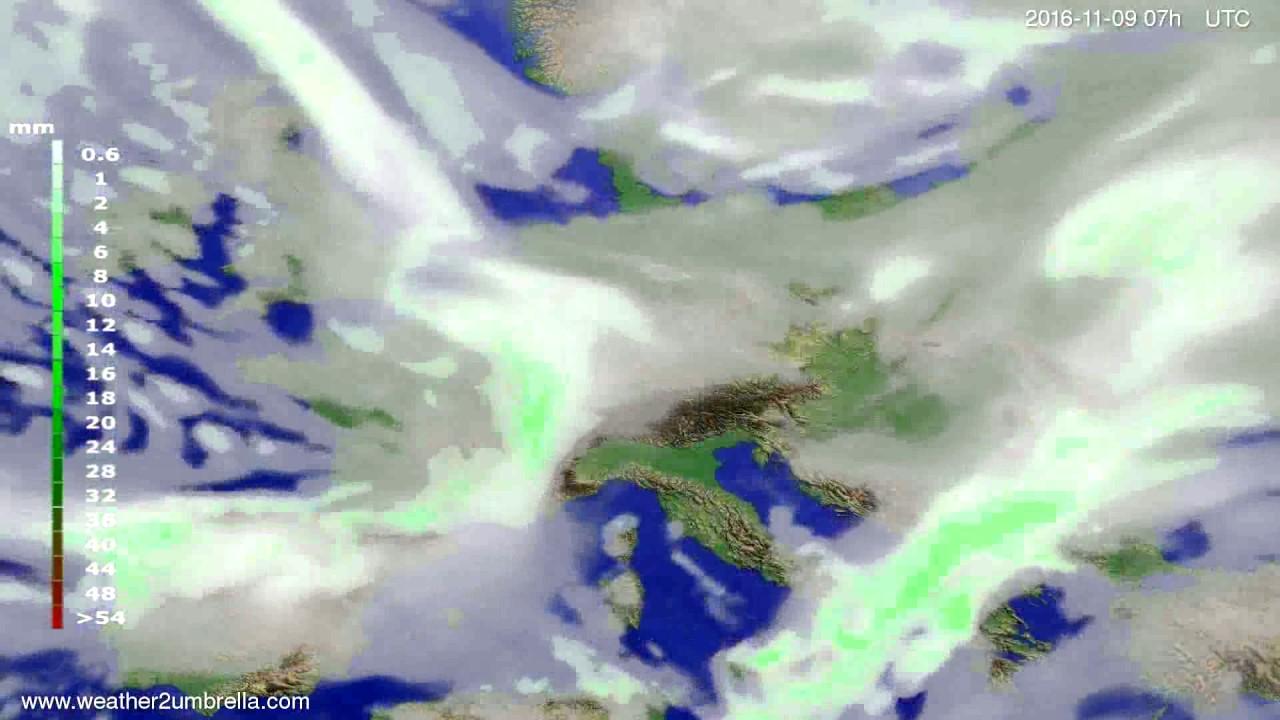 Precipitation forecast Europe 2016-11-05