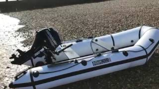 AquaParx 330 Inflatable boat with Mercury 9.9 outboard.Having some fun on my AquaParx 330 inflatable boat at Eastbourne UK april 2017.
