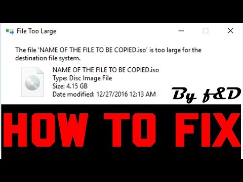 How to fix the file is too large for the destination file system without formatting using CMD