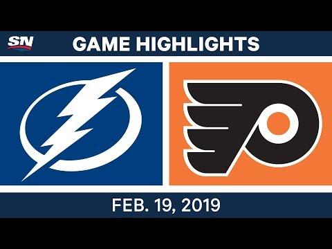 NHL Highlights  Lightning vs. Flyers - Feb 19, 2019