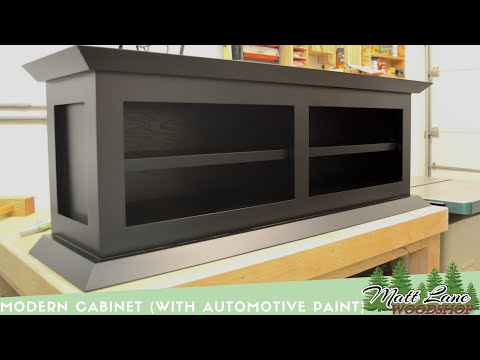 Modern Cabinet (With Automotive Spray Finish)