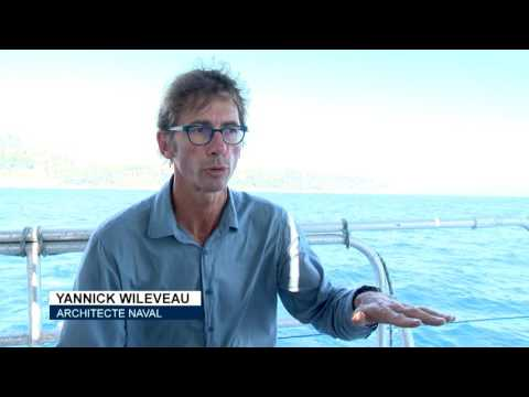 100% electric and solar-powered catamaran