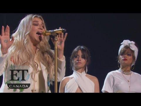 """Kesha Performs """"Praying"""" at 2018 Grammys"""