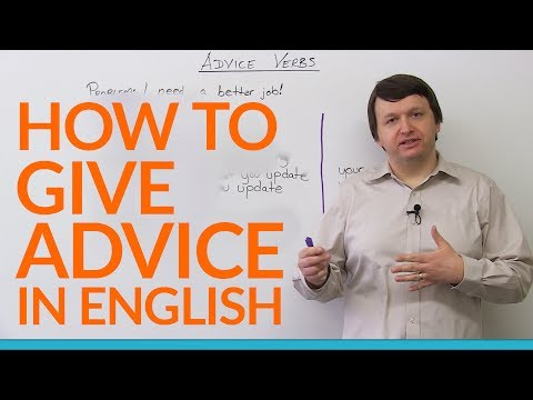 advise - http://www.engvid.com/ I've got some advice for you! This lesson is all about giving advice using correct sentence structures. Watch this English lesson to l...