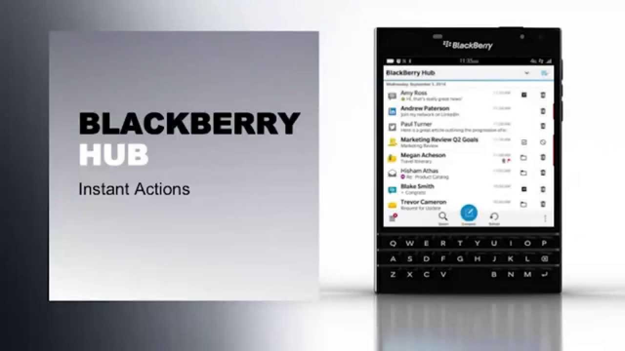 BlackBerry Passport Launch, London – BlackBerry Hub
