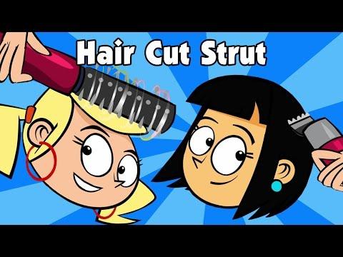 Kids song – HAIR CUT STRUT – funny animated children's music video by Preschool Popstars