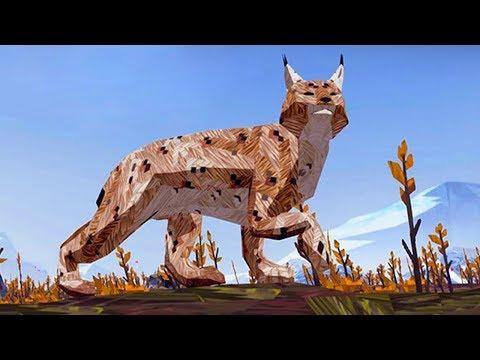 СИМУЛЯТОР ДИКОЙ КОШКИ #15 маленькие котята Рыси /  Мультик игра про виртуального питомца #ПУРУМЧАТА