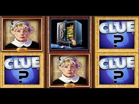Clue Slot Machine Bonus - Lights out Random Conservatory Bonus BIG WIN!
