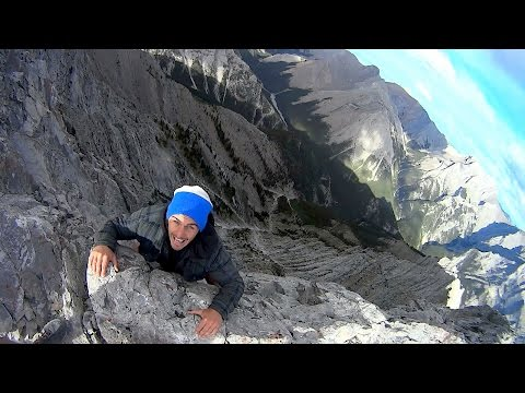 risking an 8550ft drop:  walk along treacherous mountain path