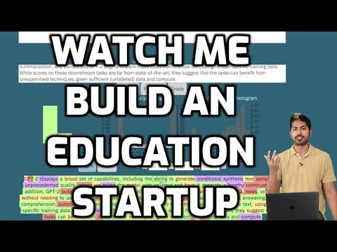 Watch Me Build an Education Startup