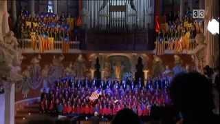 Cant de la Senyera interpretat al Palau de la Música per l'Orfeó Català el dia de Sant Esteve de 2012.