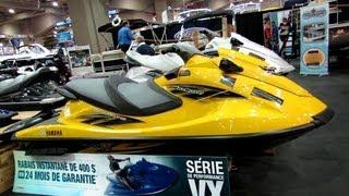 8. 2013 Yamaha Wave Runner VXR High Output 1,8 Jet Ski - Walkaround - 2013 Montreal Boat Show