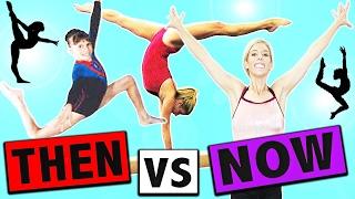 TRYING GYMNASTICS THEN VS NOW!!   Rebecca Zamolo