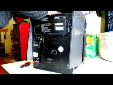 The guts of panasonic shelf stereo.