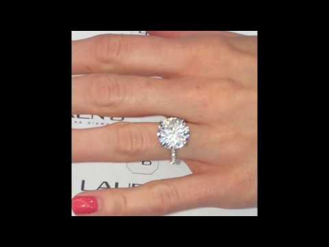 6 carat Round Moissanite Engagement Ring