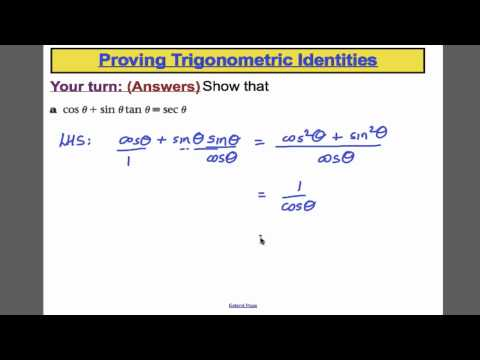 Trigonometrie (3) - L13 - Core 3 Edexcel Mathematik A-Level
