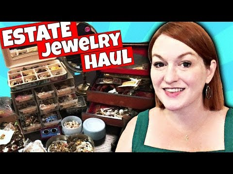 $90 Estate Sale Jewelry Haul - Learn to Sell Jewelry Online - Sell Vintage Jewelry on Ebay & Etsy
