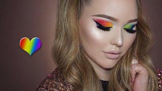 PRIDE Tribute Rainbow Eyes Makeup Tutorial by Nikkie Tutorials