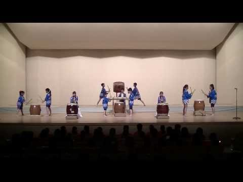 20140119,福岡市立那珂小学校(和太鼓)「那珂小まつり太鼓」「回帰」