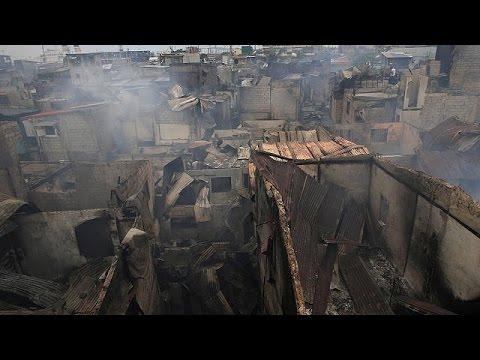 Πυρκαγιά σάρωσε παραγκούπολη στις Φιλιππίνες