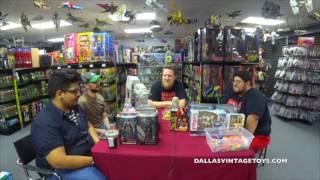 DVT Talks 07/19/17 LIVE - Podcast and GIVE-AWAYDallas Vintage Toys is a vintage toy store in Dallas Texas specializing in toys from the 70's, 80's ad 90's! The biggest genre of toys in the store is STAR WARS of which every generation from 1977-2015 is available and in stock! You have to stop by and see it for yourself at 12052 Forestgate Dr, Dallas TX 75243, Phone 214-827-7060, or visit them online at www.dallasvintagetoys.com - WE BUY TOYS!