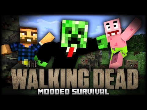 """Minecraft Walking Dead Modded Survival  """"IT ON MY FACE!!!"""" w/ DrPlaystation, Kyle, and Jack 