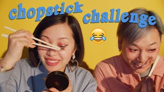 Chopsticks as Hands Makeup Challenge by Michelle Phan