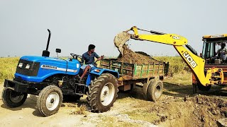 Sonalika DI 47 RX 50 hp Tractor with fully loaded trolley | Sonalika tractor power | CFV |