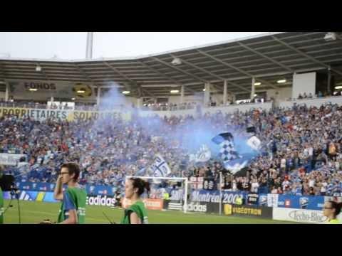 Video - Montreal Impact Fans Celebrate Striker Marco Di Vaio's Goal at Saputo Stadium - Ultras Montréal - Montreal Impact - Canadá