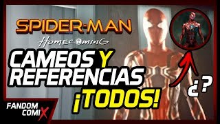 ¡ALERTA! Este video contiene Spoilers explícitos así que míralo bajo tu propio riesgo.Spiderman Homecoming es un éxito de crítica y taquilla. La nueva película del arácnido, como toda cinta de Marvel, está plagada de referencias y cameos. En este video te vamos a nombrar todas (las que recordemos).Spiderman intro clásico: https://www.youtube.com/watch?v=SUtziaZlDeESpiderman nuevo intro: https://www.youtube.com/watch?v=Br1qIyKWFp0HERO COMPANY: https://www.facebook.com/HEROCOMPANY.PE/WOLFSTORE.PE: https://www.facebook.com/wolfstore.pe/CONCURSO HOMECOMING: https://goo.gl/RYFM2BSíguenos en:Facebook: https://www.facebook.com/FDMComics/Twitter: https://twitter.com/FComicsOficialInstagram: https://www.instagram.com/fandomcx/?hl=es