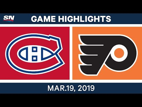 NHL Game Highlights | Canadiens vs. Flyers - March 19, 2019