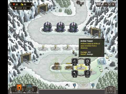 Kingdom Rush Level 7 Coldstep Mines Normal Challenge