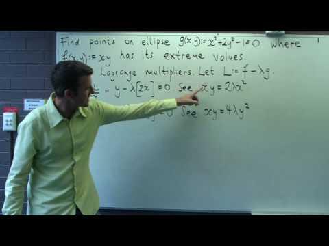 Lagrange-Multiplikatoren: Extreme Werte einer Funktion, die einer Bedingung