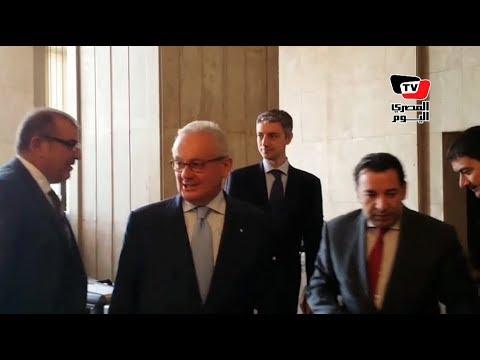 أول ظهور رسمي للسفير الإيطالي الجديد بمصر