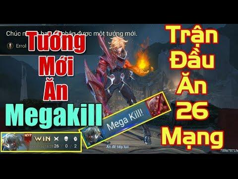 [Gcaothu] Lần đầu test tướng mới ERROL ăn ngay Megakill vét 26 mạng - 2 viên đá quý cũng đáng - Thời lượng: 11:11.
