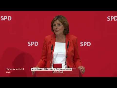 Pressekonferenz der SPD zur Nachfolge von Andrea Nahles am 03.06.2019