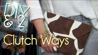 Make No Sew Clutch | Purse/Case/Envelope - YouTube