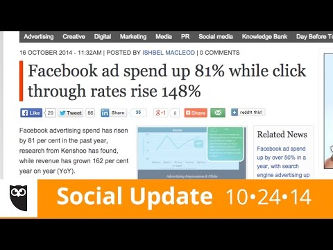 'Social' - Did you know clickthrough rates on Facebook ads increased by 148% last year? In the this week's episode of Social Update, Sunny tells you about the results of a new study on search and social...