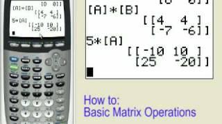 Matrix Operations on the TI-83+ TI-84+