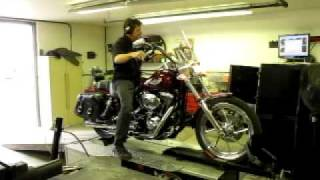10. 2003 FXDWG Dyna Wide Glide Dyno Run 95ci Engine