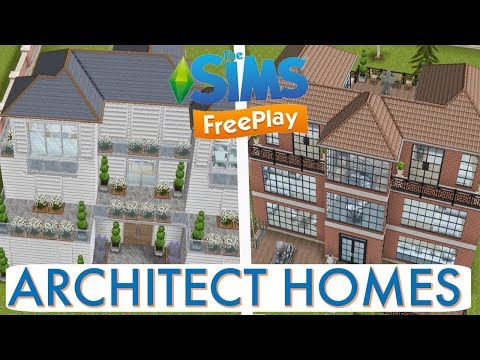 Sims Freeplay   Architect Homes Tour   August 2017. Search result youtube video greenoid gemzicle