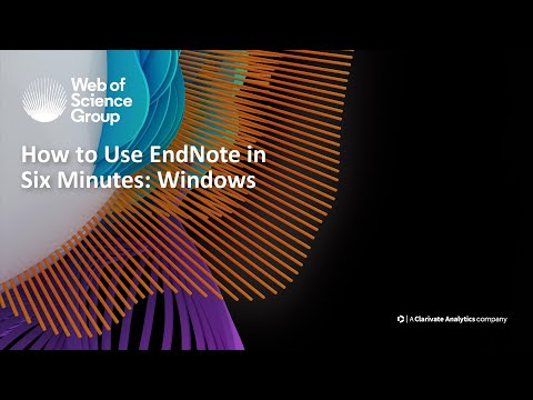 How to use EndNote in six minutes: Windows