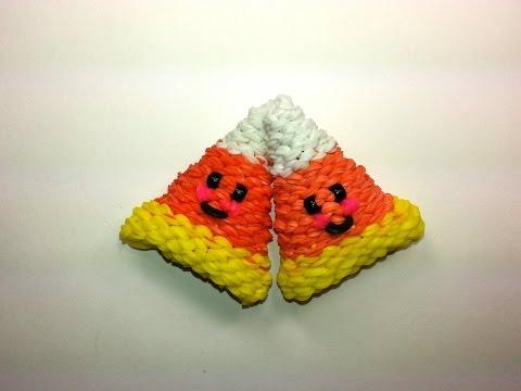 3-D Happy Candy Corn Tutorial (Rainbow Loom)
